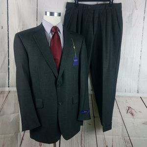 Arrow 42R 2pc Suit Dark Gray NWT